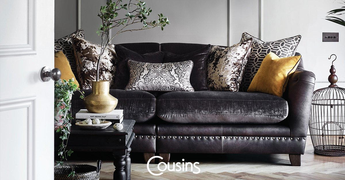 Pay Nothing Until Next Year No Deposit Interest Free Credit In Boutique Leather And Fabric 3 Seater Sofa Now 1499 Save 500