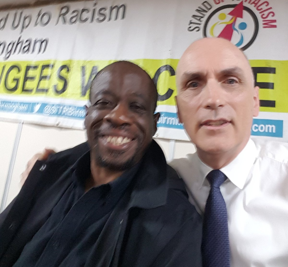 It was a real pleasure to speak alongside Clare Short and Weyman Bennett, one of the co-conveners of @AntiRacismDay, at the Stand Up to Racism conference in Birmingham this morning.
