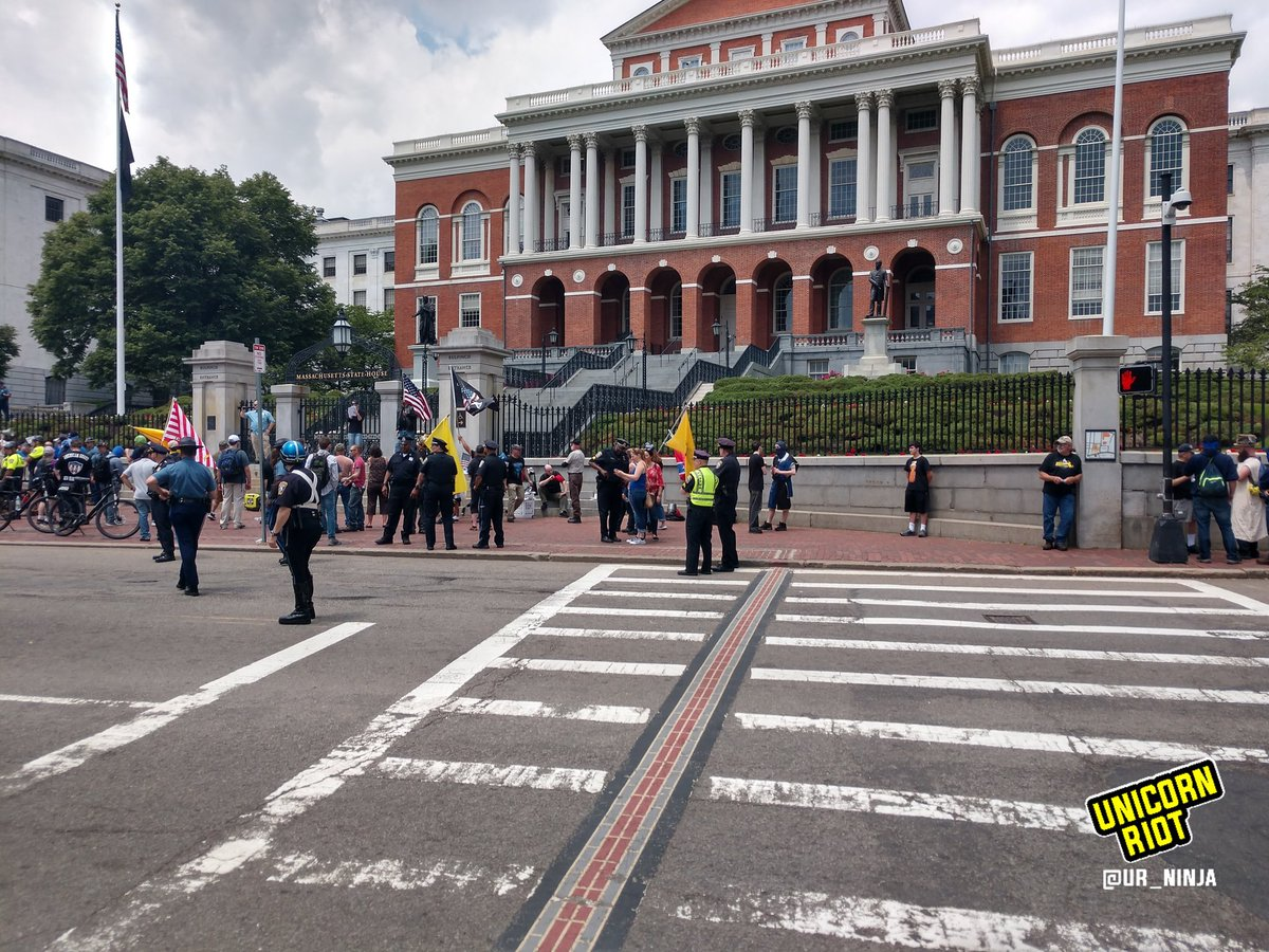 Boston now: Roughly 20-25 far right people are supporting the rants from the 'Resist Marxism' rally right now