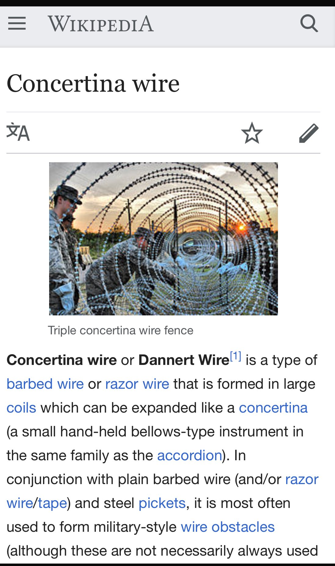 Beautiful Concertina Wire Obstacles Picture Collection - Electrical ...
