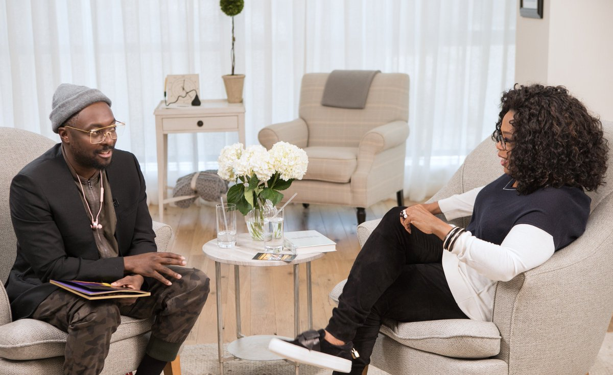 """Grammy-Award winning musician, author, philanthropist and """"techie""""…@iamwill is keeping busy! See what Will's been up to—our conversation airs on my FB page TOMORROW at 11am. Or, listen anytime with the #SuperSoul Podcast."""