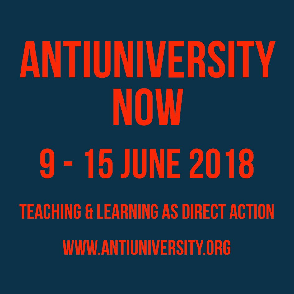 🔥🔥 ONE WEEK TO GO! 🔥🔥 The very last Antiuni festival opens on Saturday 9 June with a full week of workshops, walks, screenings, talks, experiments and interventions, organised by some of the most rad people out there 🏴🏴 Book your tickets now on antiuniversity.org