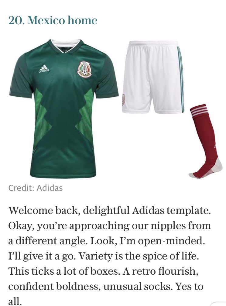 Julian Ventura On Twitter World Cup 2018 Kits Ranked Every