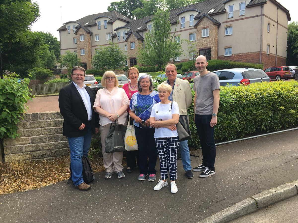 A Humid Morning In Eastwood Mansewood Talking To Residents With Curranstephen And Noting Down Some Local Issues Increased Nursery Fees By Glasgow Snp Came