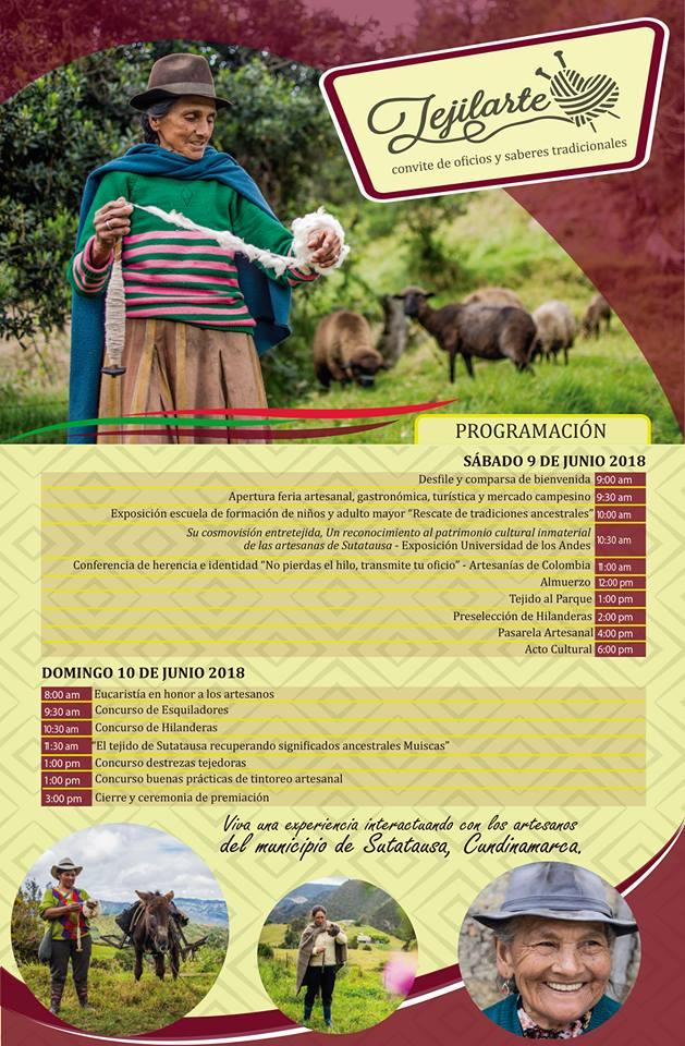 Resultado de imagen para Convite de Oficios y Saberes Tradicionales TEJILARTE SATATAUSA