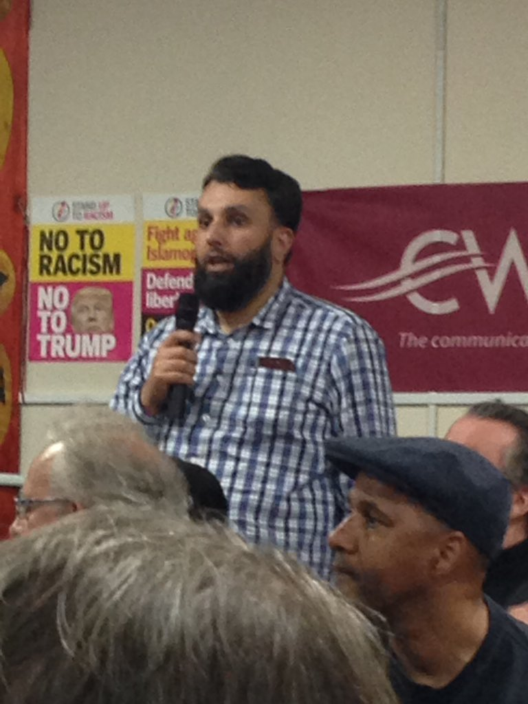When one of us are under attack all of us are under attack - its right that Jews fight Islamophobia and Muslims fight Antisemitism Azhar Qayum #MEND #TUCSUTR #Birmingham Summit Against Racism @AntiRacismDay