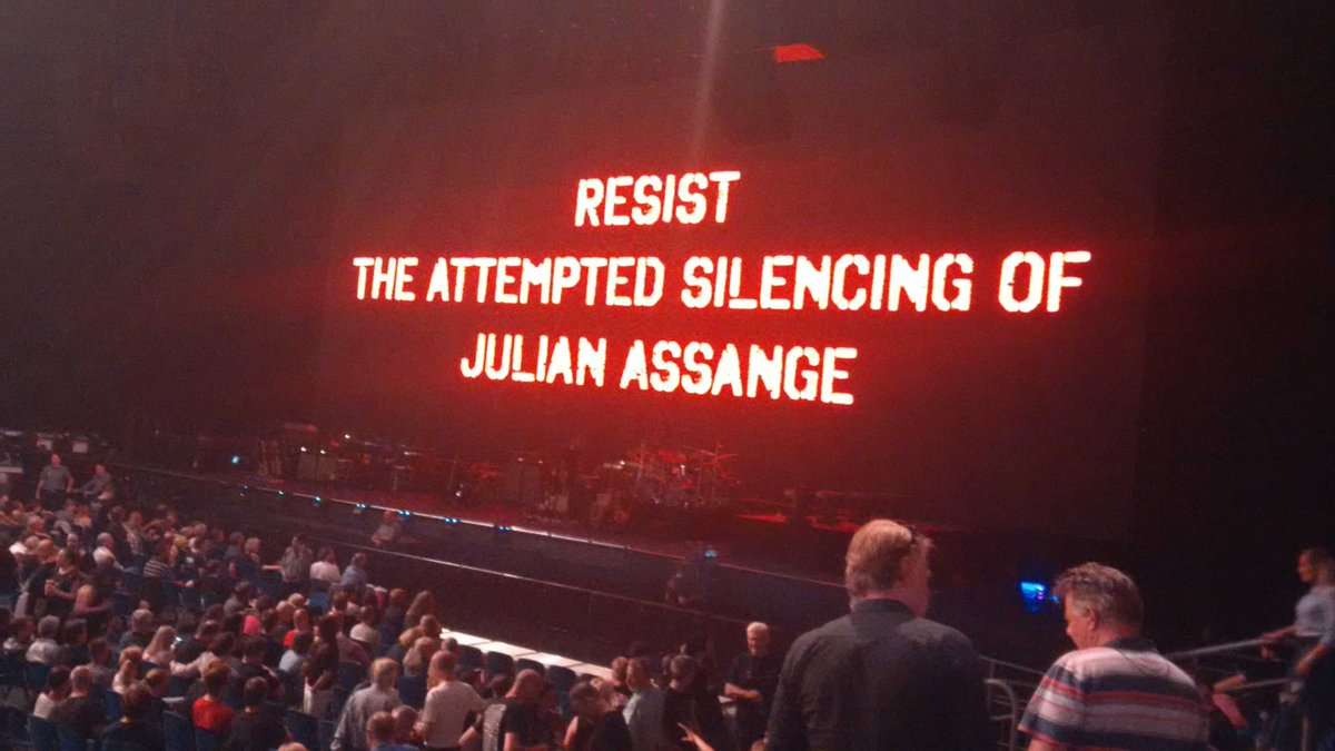 Image result for Roger Waters Assange Tweet