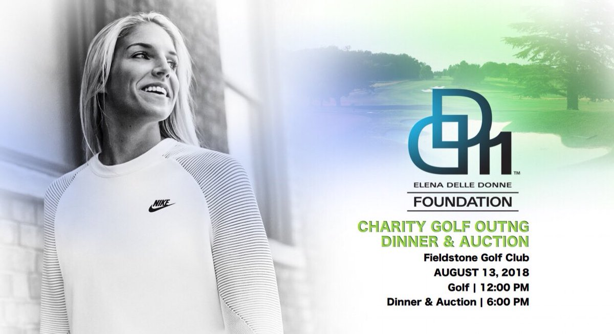 My 2018 foundation golf outing is coming up! For more info visit my website! ELENADELLEDONNE.COM