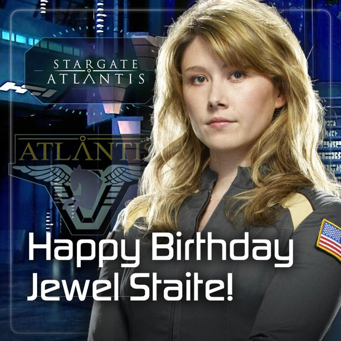 Happy birthday to Stargate Atlantis Dr. Keller - Jewel Staite! We wish you a beautiful day in the Pegasus Galaxy!