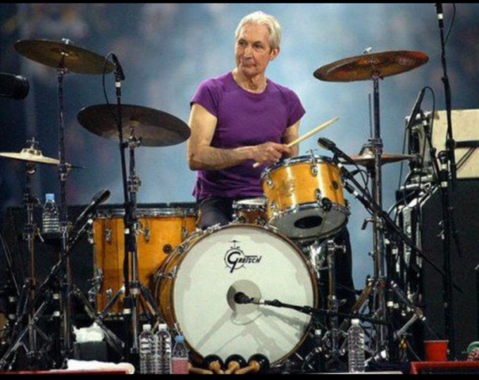Happy birthday to the best drummer ever,  the only one Mr Charlie Watts