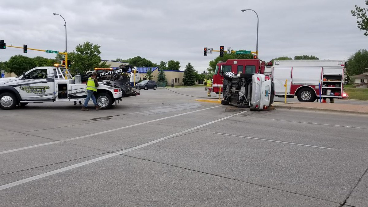 "wday tv news on twitter: ""nobody hurt after south fargo t-bone crash"