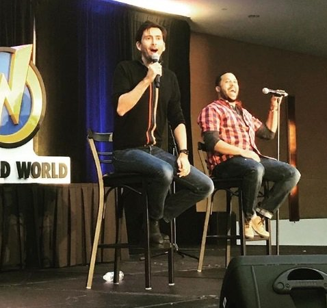 David Tennant at his panel at Wizard World Des Moines fan convention - Saturday 2nd June 2018
