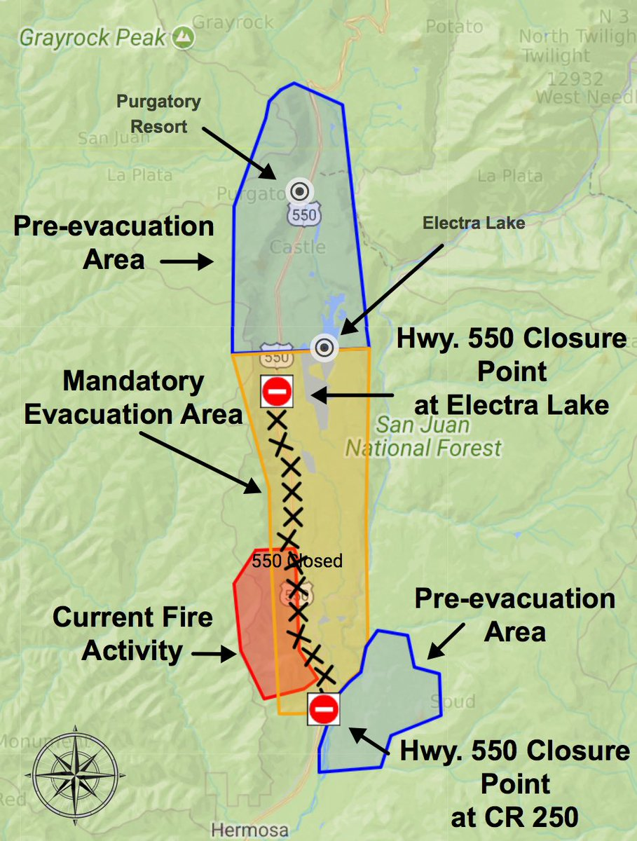 County Line 2 Fire Map.La Plata County Co On Twitter This Is An Updated 416fire Map