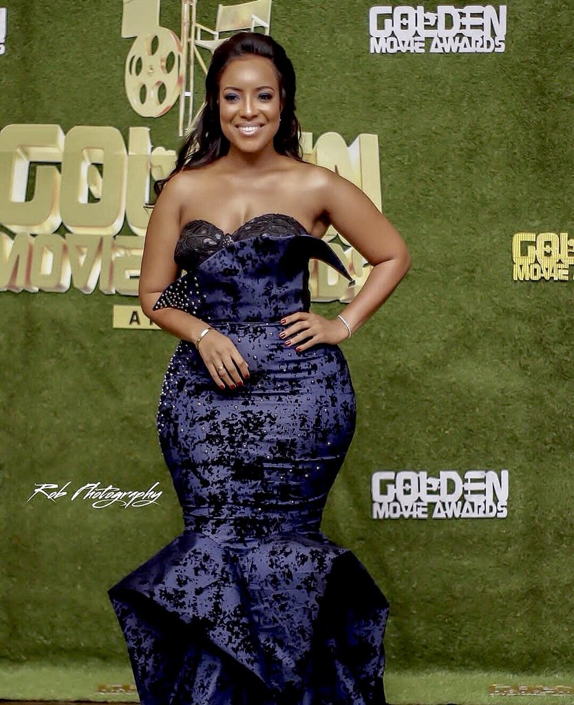 Joselyn Dumas at the 2018 #GoldenMovieAwards