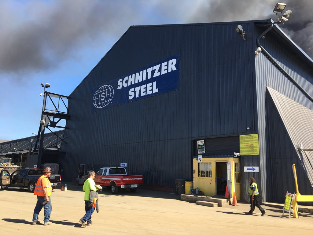 Rob Malcolm On Twitter OFD On Scene Of Fire At Schnitzer Steel - Schnitzer metals recycling