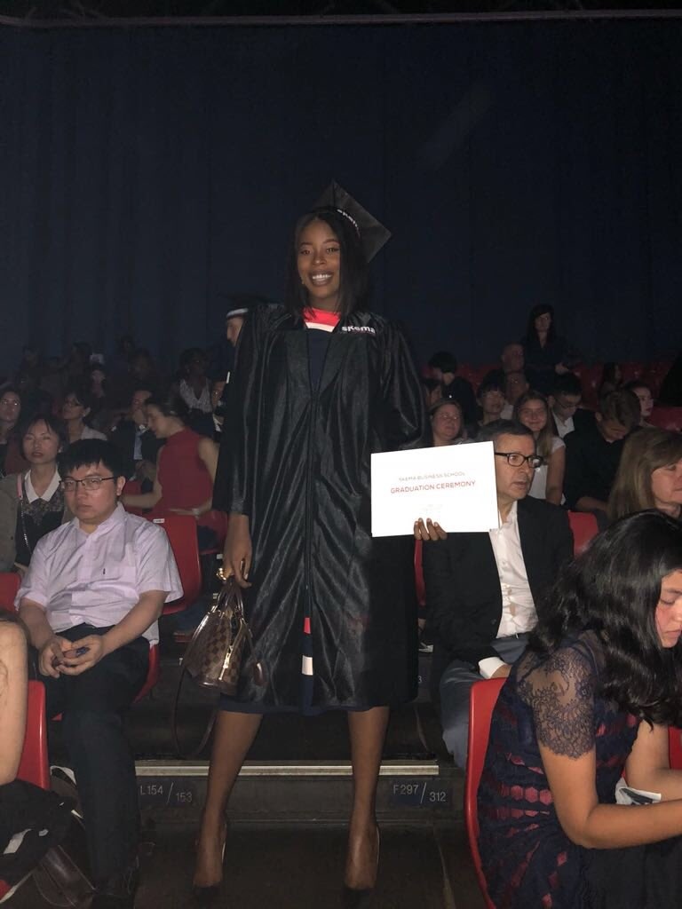 Your girl got herself a degree today. #BlackExcellence #BeautyAndBrain #PrettyAndEducated. Daddy this one is of you. Master of science in finance  thank you Lord for this journey. #BagSecured #SKEMA18pic.twitter.com/5SdInSLOU2