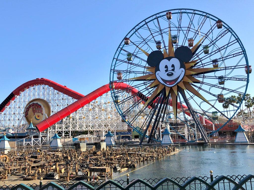 Laughingplace Com On Twitter Fun Wheel With Incredicoaster Testing Construction Pixar Pier Disney California Adventure