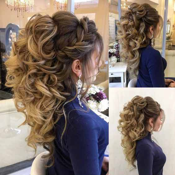 Weddingpace On Twitter Pakistani Engagement Hairstyles For