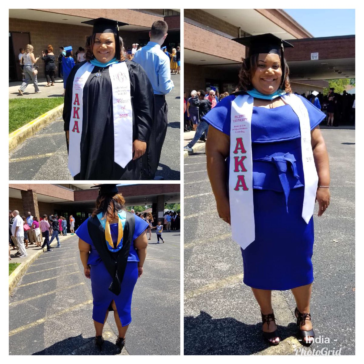 Today I became the first person in my family to get a Masters Degree! So proud yet humbled to be able to accomplish such as honor like this. But it doesn't stop here, I gave to get that Dr. #GoalSetter #FutureCounselor #SpaldingU2018<br>http://pic.twitter.com/bWkdmzoBRs