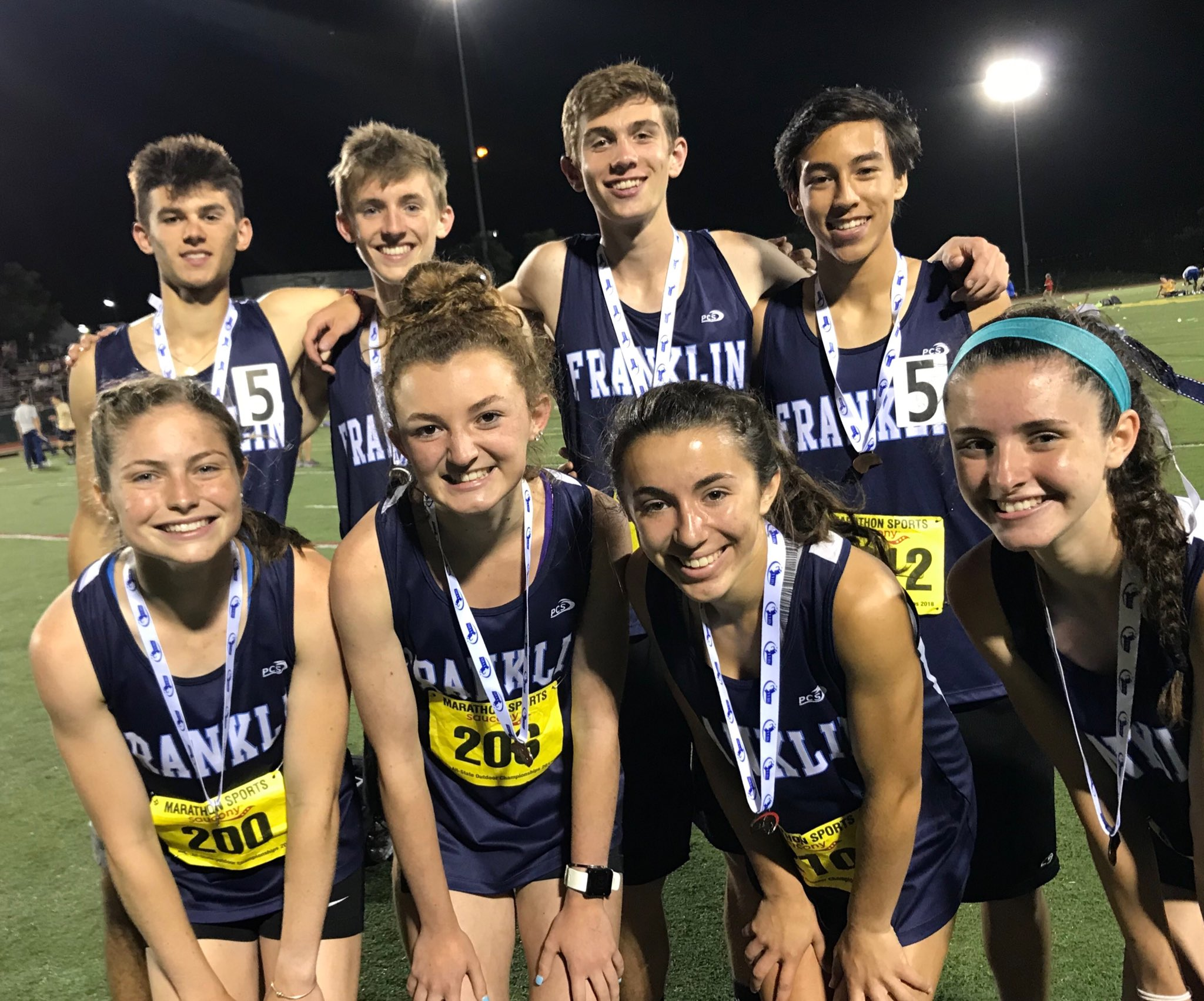 And to top off the night both the boys (8:00.4 - 6th) and girls (9:17.4 - 2nd) 4x800 teams set new school records! Quite the day for FHS track at the state meet