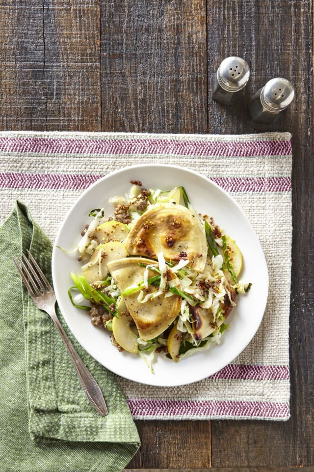 Check out this #recipe for Pierogies with Sausage, Cabbage & Pear >> https://t.co/s4ofroEcMe #cooking #food https://t.co/4tHSMU8f2s