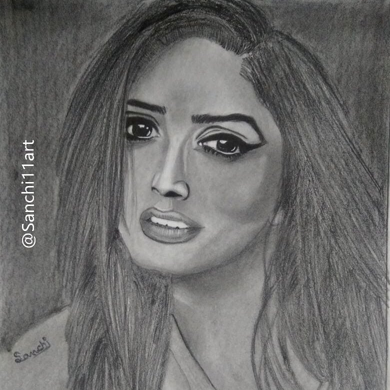 Sanchi saini on twitter pencil sketch of yamigautam made by me😇 hope you will see this and share this🙏 yamigautam actress bollywood sketch art