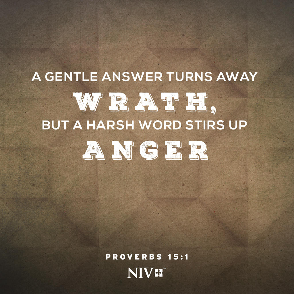 the bible on twitter today s verse of the day a gentle answer