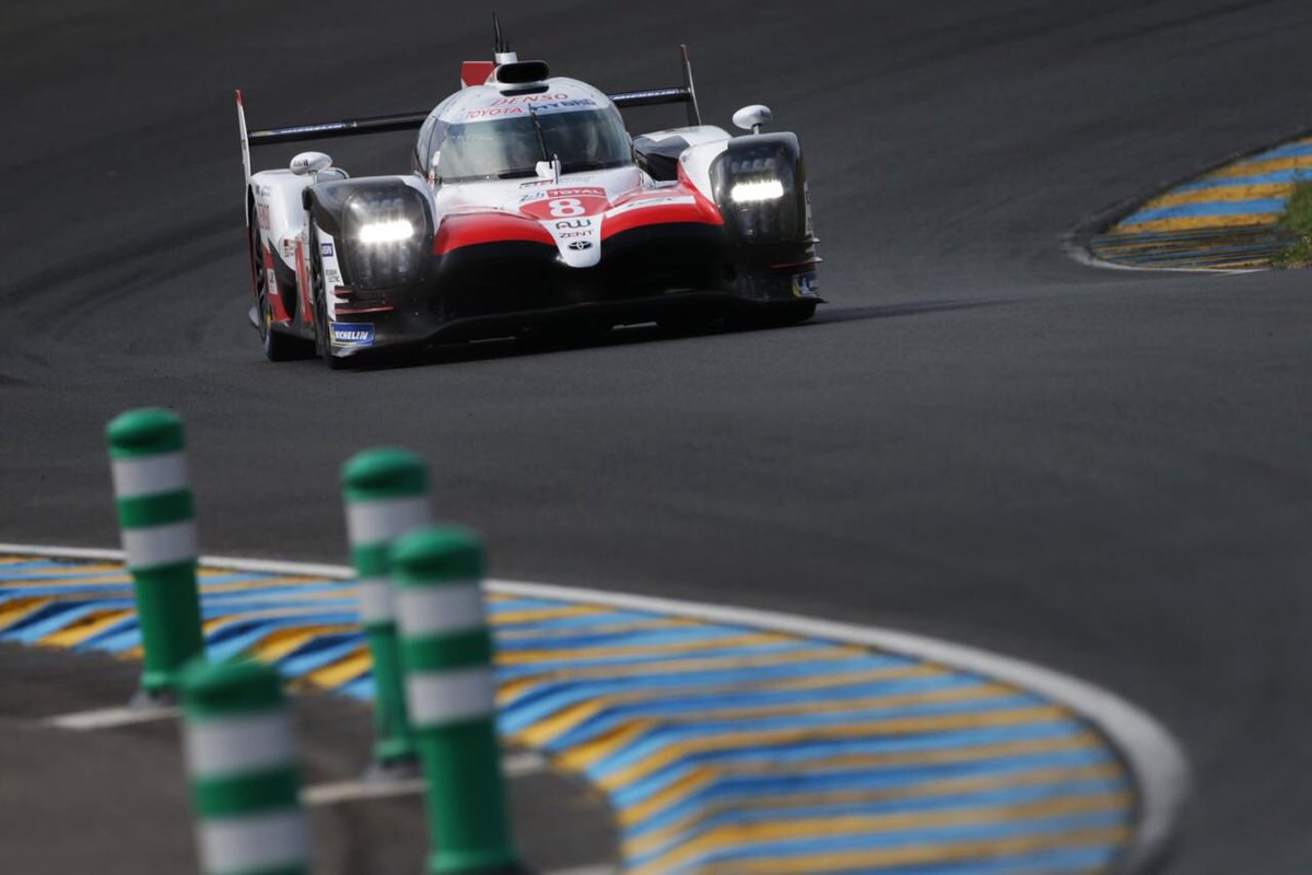 Back behind the wheel today for @Toyota_Hybrid at the infamous #lemans24 circuit. 📷 @jamesmoy