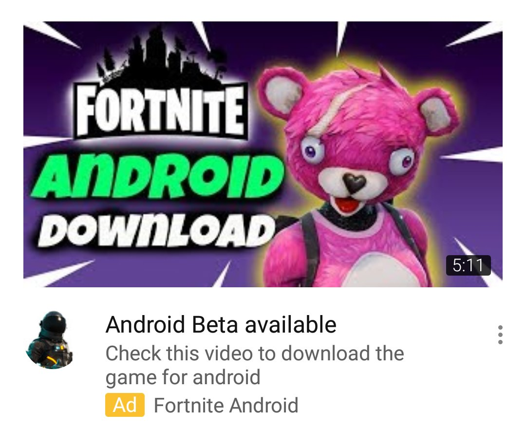 video scamming kids into thinking they re downloading fortnite on mobile 695 000 views i can only imagine all the kids that clicked this scam - why does fortnite keep redownloading
