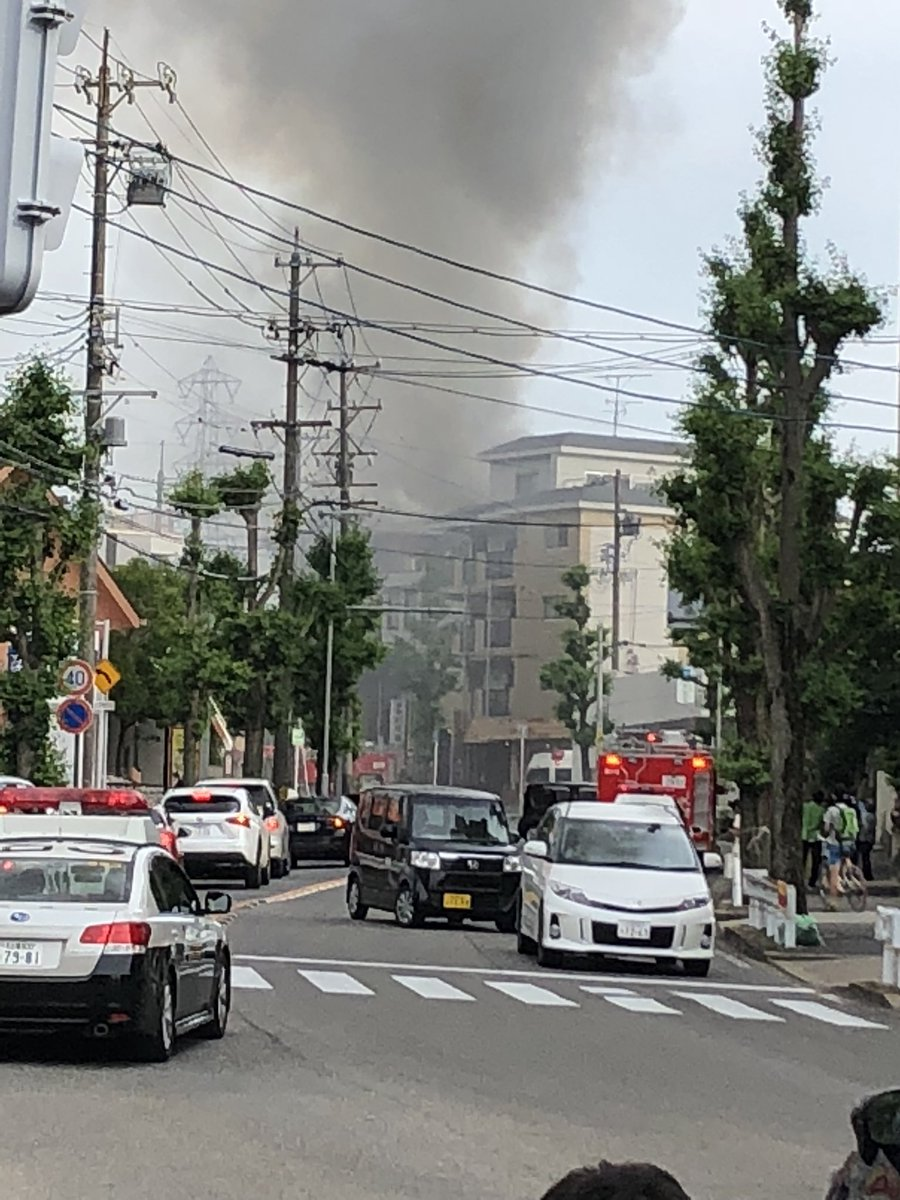 愛知県名古屋市名東区新宿の火事現場の写真画像
