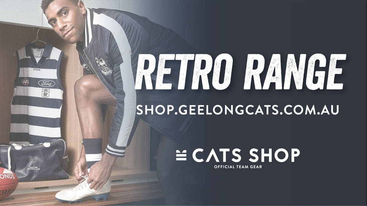 Geelong Cats On Twitter We Re Taking A Step Back In Time With Our Retro Round Against North Melbourne You Can Too With Our Short And Long Sleeved Retro Collared Guernsey Shop