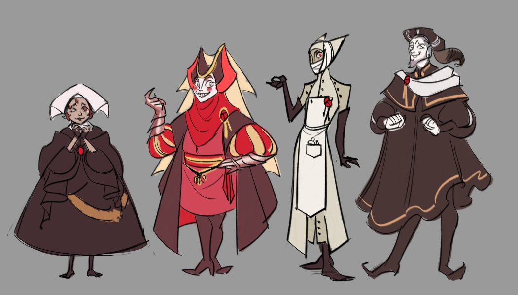 CRIMSON The Arcana t Characters Character design