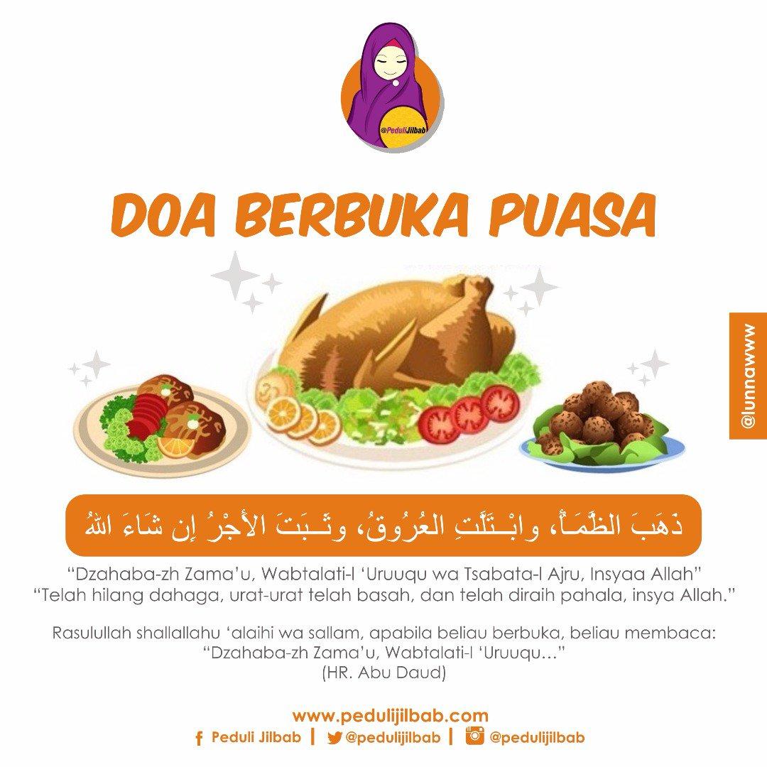 Peduli Jilbab En Twitter Jangan Lupa Baca Doa Berbuka Puasa Ya Shalihat