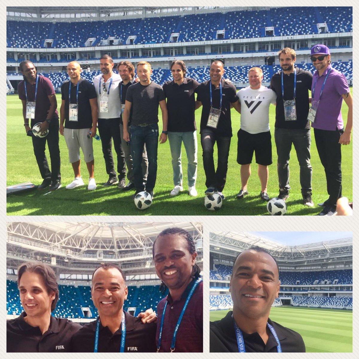 At Kaliningrad Stadium with friends and Legends!!! @FIFAWorldCup @Nuno_gomes21 @WesBrown24 @papilokanu Niko Kranjčar, Pascal, Panov, Sennikov, Tikhonov, Nigmatullin