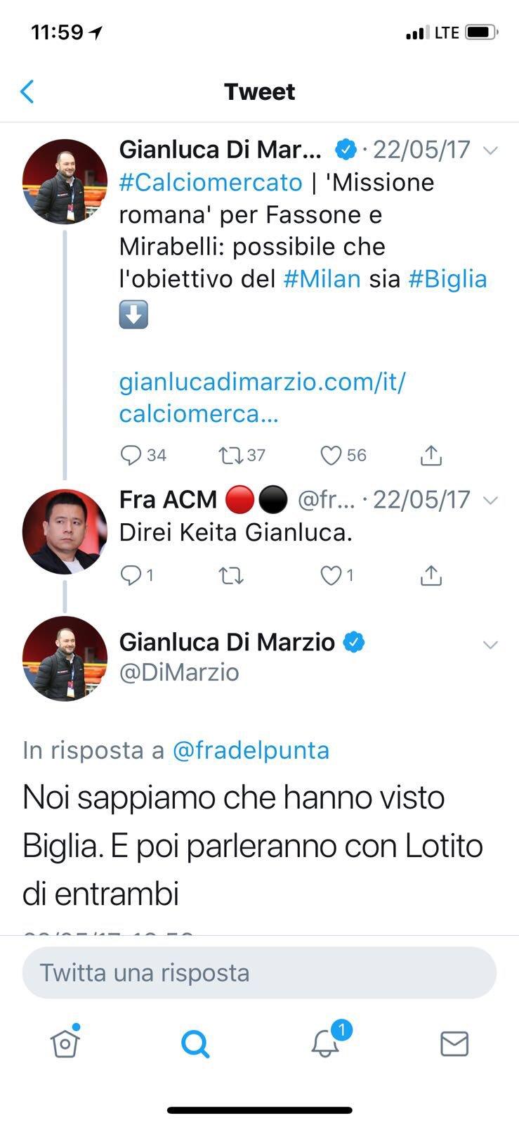 Gianluca Di Marzio Pa Twitter Ps Ecco Il Tweet