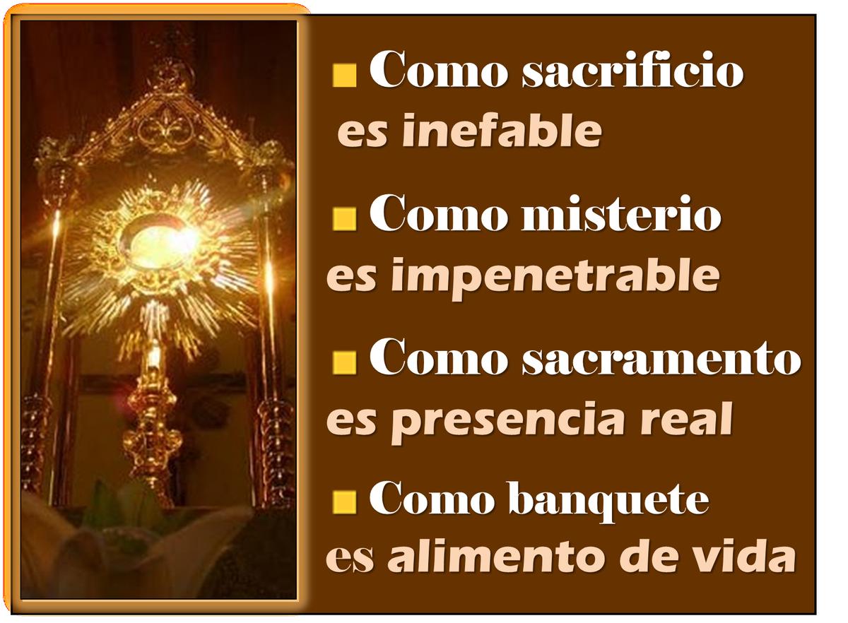 Resultado de imagen de devoción al santísimo sacramento