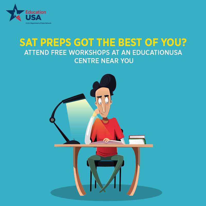 Visit an EducationUSA center near you and get all the help you need for your SATs. To know more, register with us: buff.ly/2II51se #EducationUSA #Pakistan #TestPrep