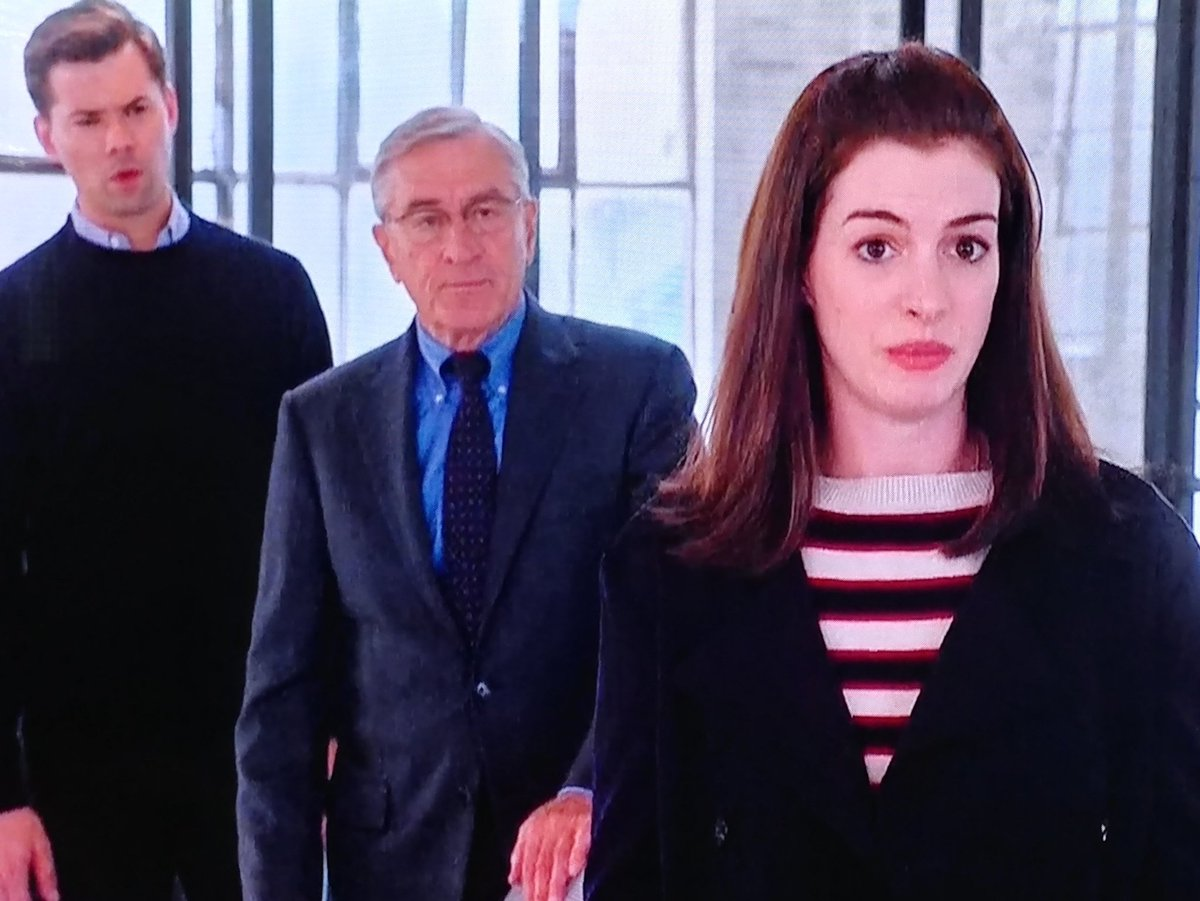 2015 @TheInternMovie #AnneJacquelineHathaway #RobertDeNiro #ReneRusso Great Movie  And we all know, I'm not easy to get along with, and I'd be single forever and buried alone, Buried with strangers.. I will be In the Stranger Single section of the Cemetery https://t.co/R0XnqtEbUF