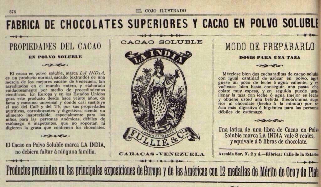 Gfv on twitter publicidad de chocolates y cacao soluble - Productos de la india ...