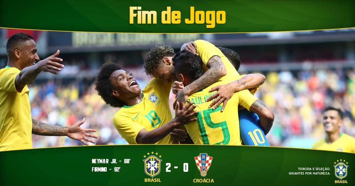 ACABOU! Primeiro teste antes da Copa do Mundo: APROVADO ✅  #Brasil 🇧🇷 2✖️0 🇭🇷 Croácia   #GigantesPorNatureza
