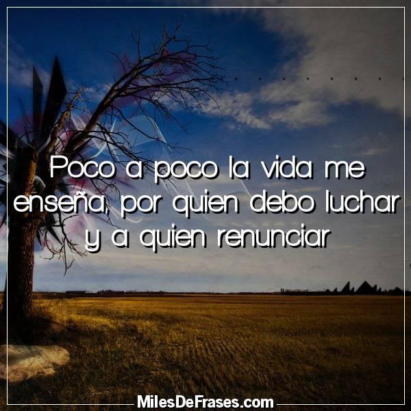 Frases En Imágenes On Twitter Poco A Poco La Vida Me