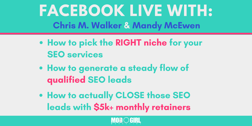 @MandyModGirl & @superstarseo4 teamed up for a Facebook Live to answer your biggest #SEO and #digitalagency growth questions.  Catch the replay here: https://t.co/DQ99vCHq8B