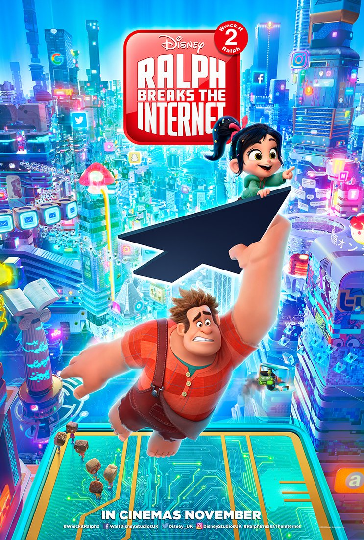 A new trailer for #RalphBreakstheInternet will wreck your feeds tomorrow! 👊💥