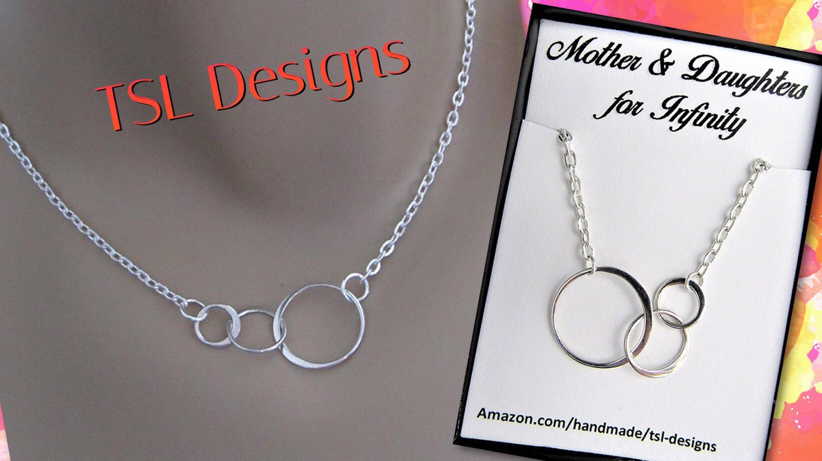 mother valentine gift usa valentines necklace silver sterling s infinity circles daughter itm
