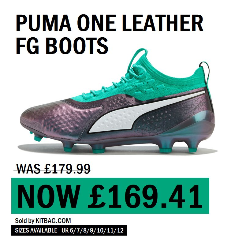 04fc01595 ... £179.99) - SAVE £10.58 --- #BOOTROOMDEALS #BOOTROOM #BOOTS #CLEATS  #DEALS #ATHLETE #FITNESS #FOOTBALL #SOCCER #KITBAGSOCCER #PUMA #ONE  #LEATHER ...