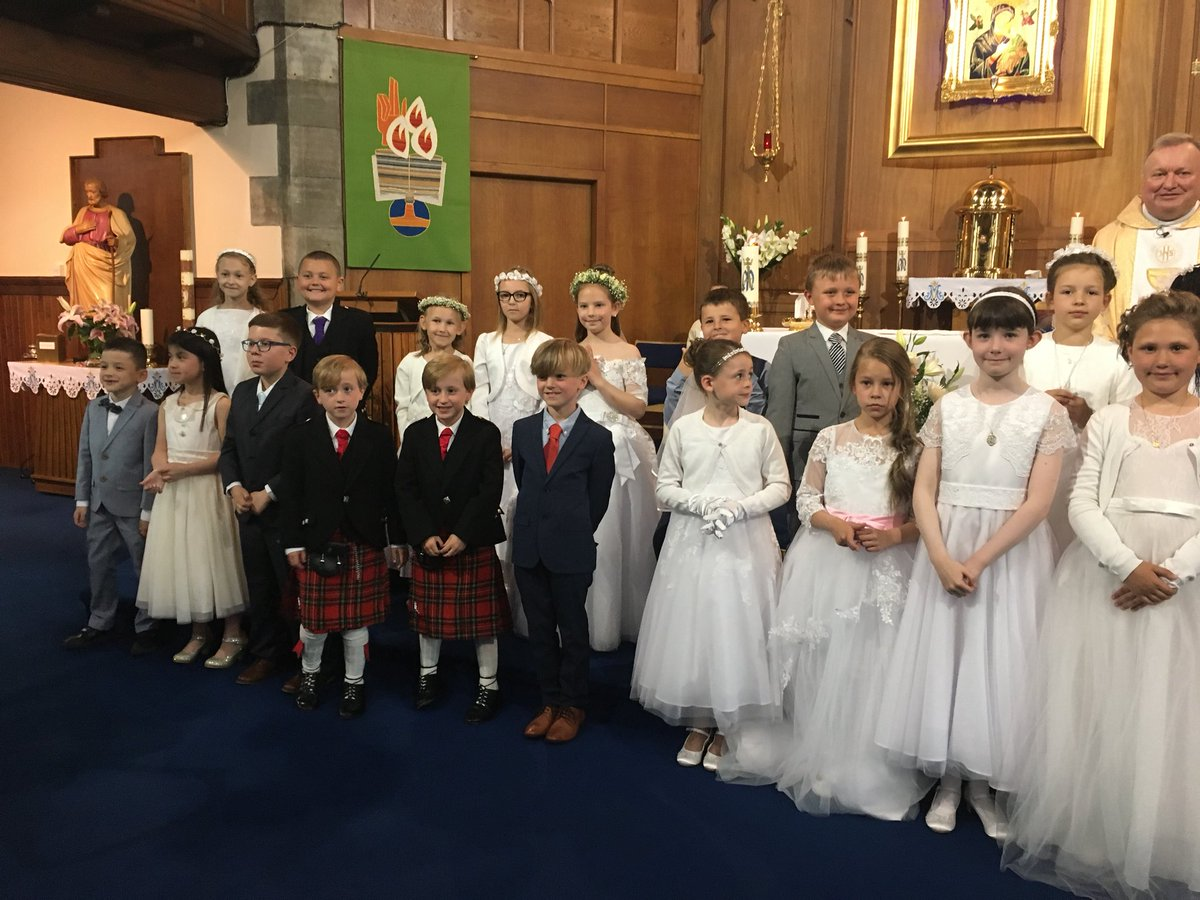 9e31c3600 A beautiful celebration today at St Marie's church for our Primary 4s  receiving their first Holy Communion. Thank you to everyone for their  contribution to ...