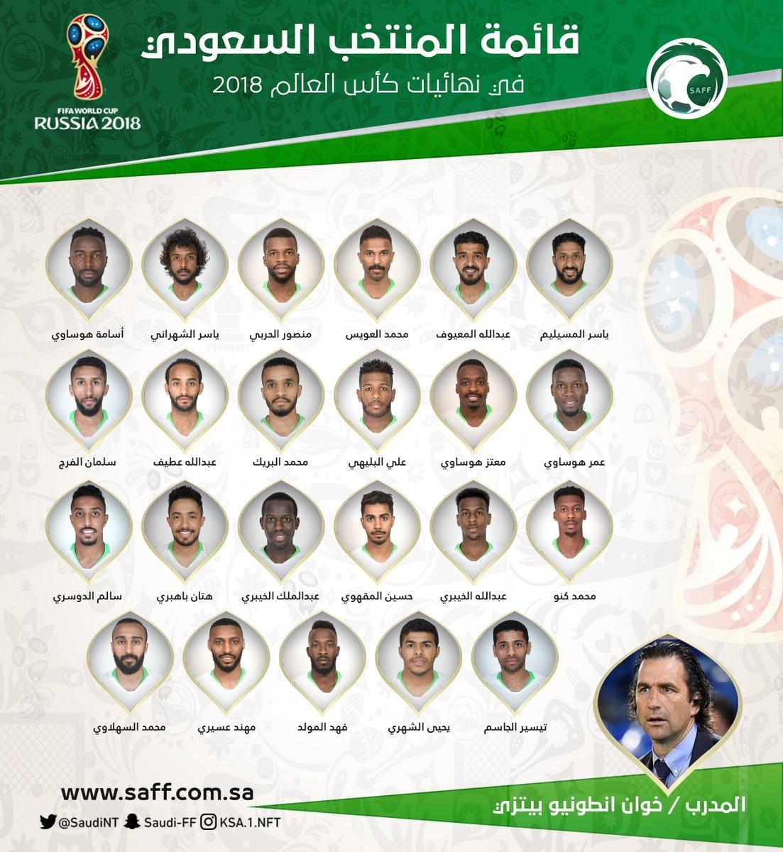 السعودية تعلن قائمتها النهائية لكأس العالم.. استبعاد نواف العابد