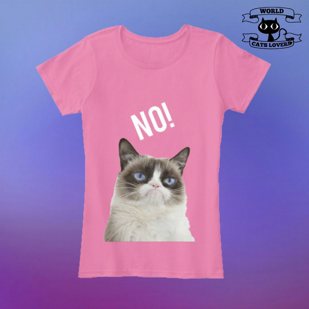 Do you like grumpy cat? This is for you! 😹😍👚👇 Enter at link in my profile and get it now!😍👚 #Grumpycat #grumpycatshirt #worldcatslovers