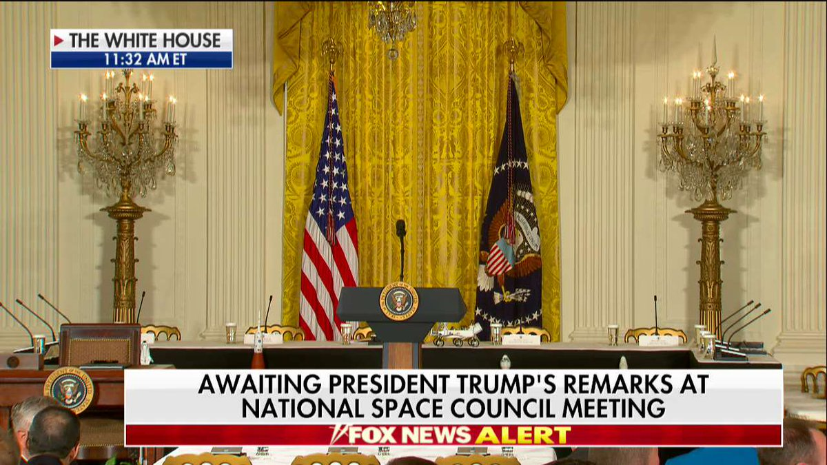 Awaiting @POTUS remarks at National Space Council meeting at the @WhiteHouse