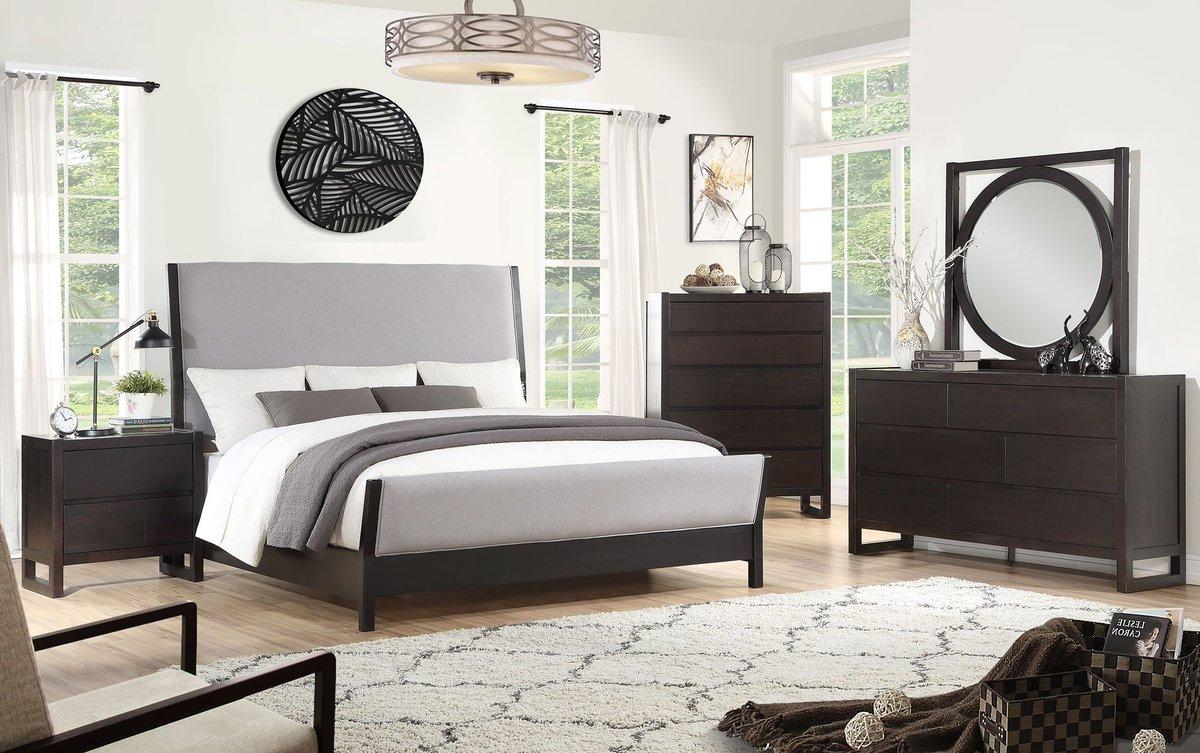 Vibe https www rcwilley com furniture bedroom sets queen 110927494 modern dark brown 6 piece queen bedroom set crosby street view jsp